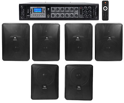 JBL Restaurant/Bar/Cafe Kit 6-Zone Amp+4) Control 28-1+2) Control 25-1 Speakers