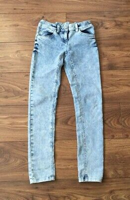 Next Girls White Wash Bella Skinny Fit Jeans 12 Yrs Excellent Cond Pale Blue