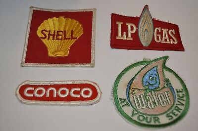 Shell LP Gas Oil Conoco Employee Water Service Worker Patch Lot USA VTG 70s 80s