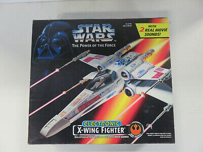 STAR WARS Power of the Force - Electronic X-WING FIGHTER - NEW! Kenner 1995