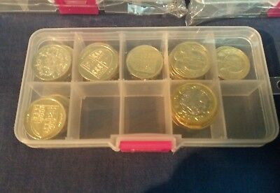1 x £1 One Pound Coin Storage Holder Container Holds Up To 70 New X £1 Jewellery