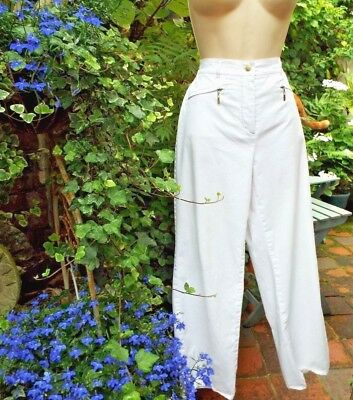 GERRY WEBER Classic Ladies White Cotton Sport Trousers Cropped Style  size 12