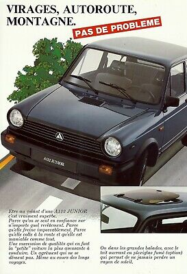 "AUTOBIANCHI ""A 112"" Junior - 903 cm³ - 1983 - French sales brochure, catalogue"