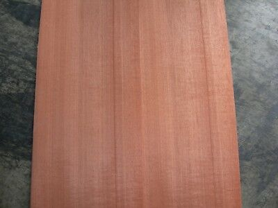 Figured Makore Wood Veneer. 9.5 x 39, 7 Sheets.