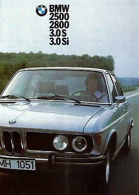 "B.M.W. ""2500, 2800, 3.0 S/Si"" Saloons - 1974 - French sales brochure, prospekte"