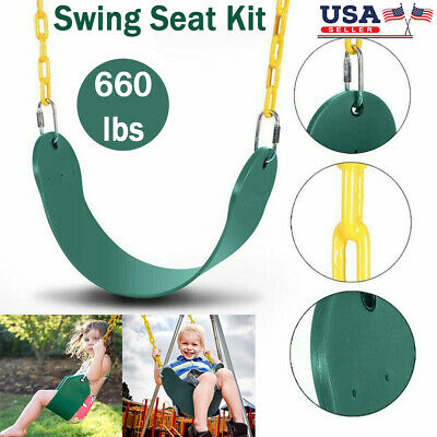 Swing Seat Kit Outdoor Playground Jungle Swingset Accessories Chain Kid Adult US