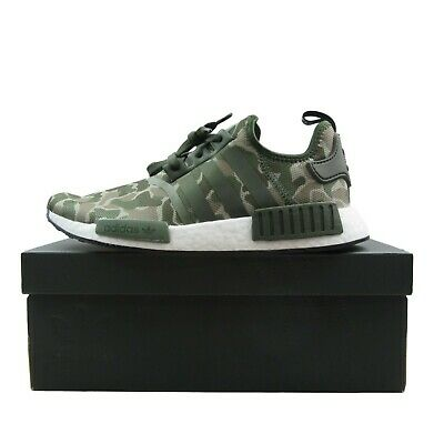 704a84cf3 Adidas NMD R1 Duck Camo Running Shoes Size 9.5 Sesame Base Green D96617