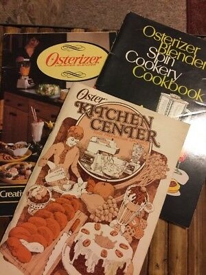 Osterizer Booklets Oster Cookbooks Three Vintage Booklets 1970s