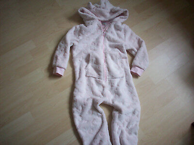 Next Pink Pig ...Hearts Fleece All In One Pyjamas Age 4-5