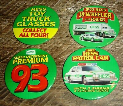 Hess Toy Trucks Promotional Pin Back Button Lot