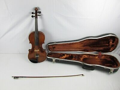 Vintage German Nikolaus Amati Copy Johann Hoffman Violin #4545 w/ Tourte Bow