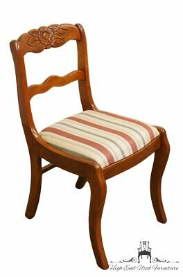 TELL CITY Duncan Phyfe Roseback Mahogany Dining Side Chair 4526