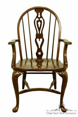 PENNSYLVANIA HOUSE Solid Oak Rustic Traditional Spindle-Back Dining Arm Chair