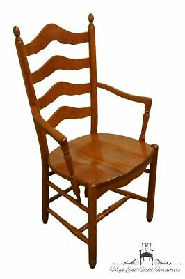 TOM SEELY Solid Cherry Ladder Back Dining Arm Chair - Honey Cherry Finish 1202
