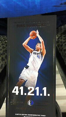 *Commerative DIRK Nowitzki* Ticket from 4/9/19 Last Game Ever in Dallas AWESOME!