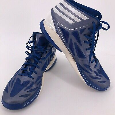 first rate 5707a a3fef Adidas Men Adizero Crazy Light Team Basketball Shoes Blue White High  Sneakers