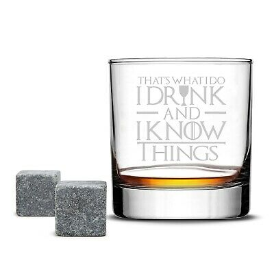 Game of Thrones Highball Whiskey Glass - I Drink & I Know Things - 10 OZ