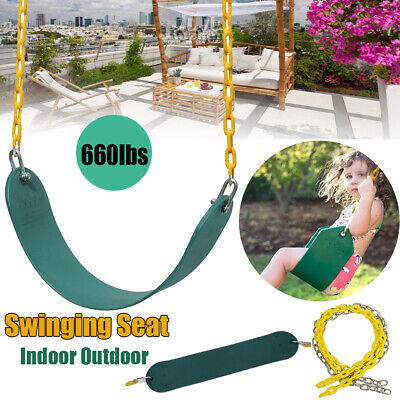 Outdoor Heavy Duty Swing Seat Playground Gym w/Plastic Coated Accessories Chain