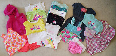 47478c1aa367 Baby Girl 24 Mos Months - Spring Summer Clothes Lot - Shirts Shorts Tops  Outfits