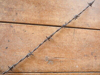 Burnells Hooked  Four Point War Wire Flat & Round Barbs -  Antique Barbed Wire
