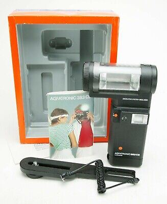 Agfatronic 383 CS TTL Two Heads Flash Unit With Metz SCA300 Connection. Unused.
