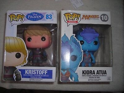 Pop Funko Disney Frozen Kristoff #83,Magic The Gathering Kiora Atua #10 Lot 2
