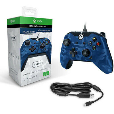 Blue Camo Wired Controller Xbox One / Pc [Pdp]