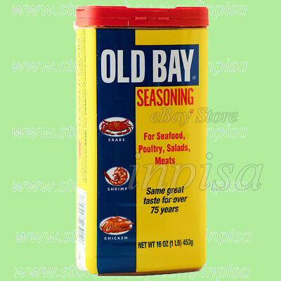 OLD BAY 2 Tins x 16oz McCORMICK OLD BAY SEASONING SEAFOOD, POULTRY,SALADS, MEATS