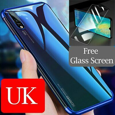 for Huawei P30 Pro P30 Lite Slim Case + Tempered Glass Screen Protector Skin