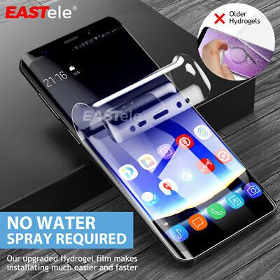Samsung Galaxy S9 S8 S10 Plus Note 9 8 Case Friendly HYDROGEL Screen Protector
