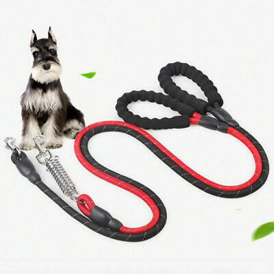 Strong Dog Leash Climbing Rope Reflective Thread Night Safe Padded Handle