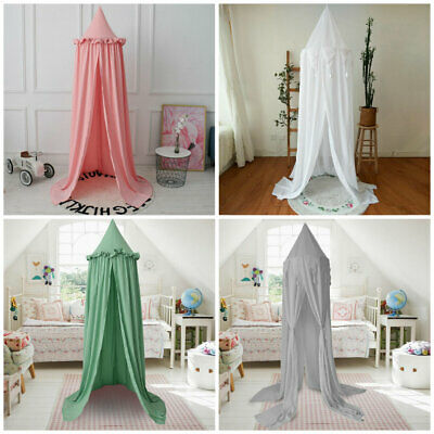 Kids Baby Bedcover Bed Canopy Mosquito Net Tent Cotton Curtain Bedding Dome FT