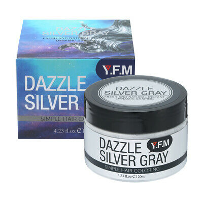 Hair Color Wax Mud Dye Styling Cream DIY Coloring Silver Unisex Temporary UK