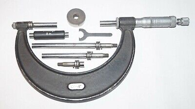 """Moore & Wright Adjustable Micrometer 0""""-4""""In Wooden Box"""