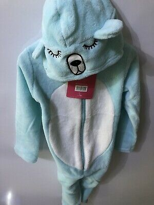 Lina Pink Girls 1Onesie1 Soft Fleece Hooded Nightie Pyjamas 4 Years RRP £20 BNWT