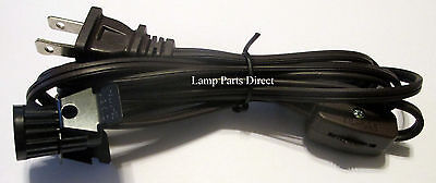 (Lot of 3) 6' Brown Cord Sets w/Plug, Switch & Candelabra Socket - See Details