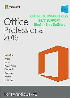 Microsoft Office 2016 Professional Plus Genuine Key Online Activation