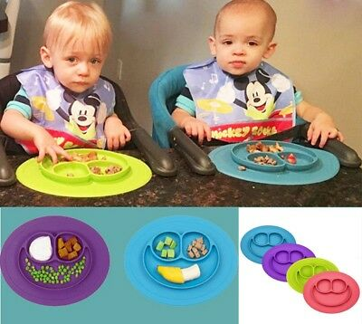 UK Cute Silicone Mat Bowl Mat Baby Kids Suction Table Food Tray Placemat Plate