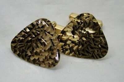 1960's Vintage Superb Quality Pair Of Large 9 Carat Gold Eurowed Cufflinks