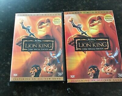 The Lion King (DVD, 2003, 2-Disc Set, Special Edition) Platinum Edition