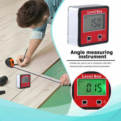 Spirit Level Box Protractor Digital Inclinometer Angle Finder Gauge Meter Bevel