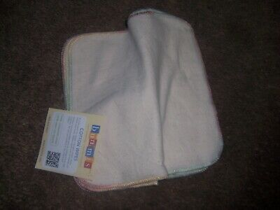 Bummis cotton cloth diaper wipes new