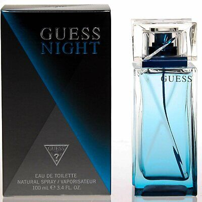 GUESS NIGHT men 3.4 oz 3.3 edt cologne spray NEW IN BOX