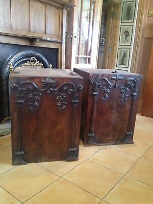 A Pair Of William IV Mahogany Pedestals for renovation AF10