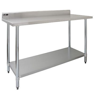 Commercial Catering Kitchen Table Stainless Steel Prep Work Bench Surface 5FT
