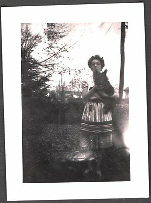 Vintage 1942 St Albans Long Island New York Scottish Terrier Dog Pup Old Photo