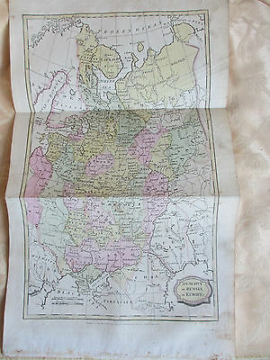 Folding map of Muscovy or Russia in Europe, original hand-colouring, 1806