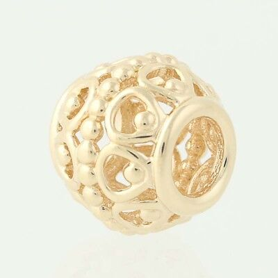 Pandora Gilded Cage Charm 750458 14k Yellow Gold Bead Retired 585 ALE Openwork