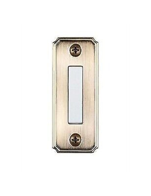 Hampton Bay Wired Lighted Door Bell Push Button Aged Brass Finish Metal Plate