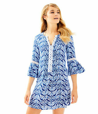 7c63327d7863b0 NWT LILLY PULITZER Hollie Tunic Dress Resort White A Mermaids Tail S ...
